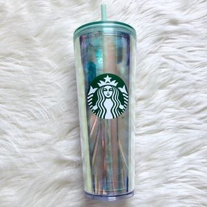 Starbucks Acrylic Rainbow Mermaid Tumbler